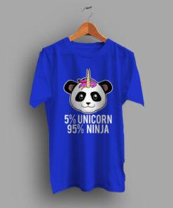 5 Percent Unicorn 95 Percent Ninja Fornite Black Game T Shirt