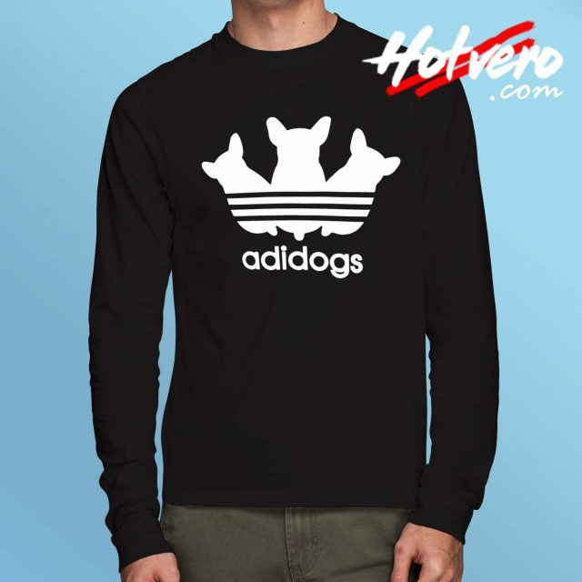 Adidogs Adidas Parody Inspired Long Sleeve T Shirt