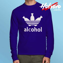 Alcohol Adidas Parody Long Sleeve T Shirt