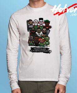 All Horror Character Nightmare Causeway Street Long Sleeve Shirt