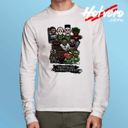 All Horror Character Nightmare Causeway Street Long Sleeve Shirt