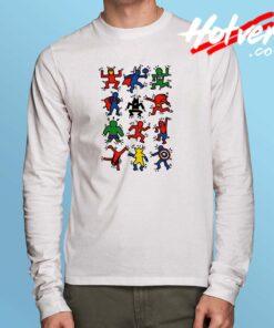All Super Hero Pop Art Long Sleeve Shirt