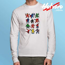All Super Hero Pop Art Long Sleeve Shirt