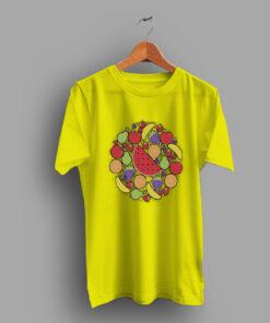 Allover Summer Fruit Print Cute T Shirt