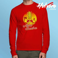 Aloha Beaches Pineapple Long Sleeve T Shirt