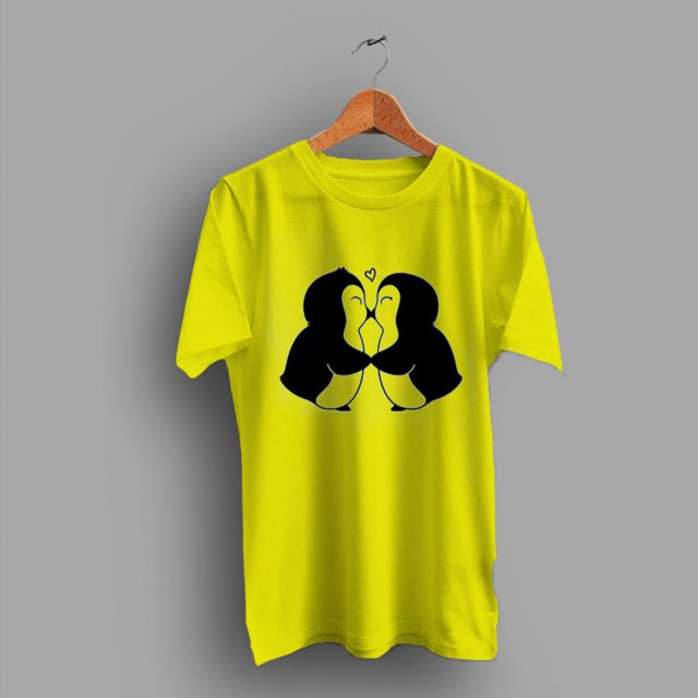 Animal Penguins In Love Cute T Shirt