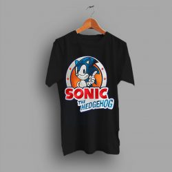 Animated Action Sonic The Hedgehog Simple T Shirt