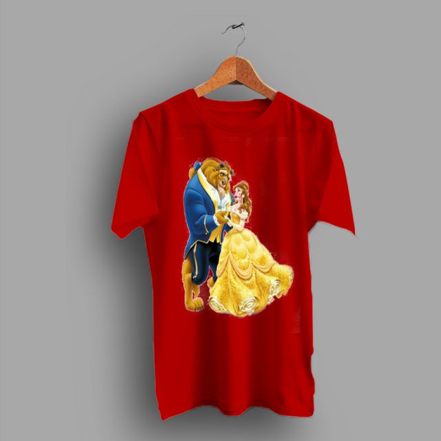 Animated Story Beauty And The Beast Movie T Shirt
