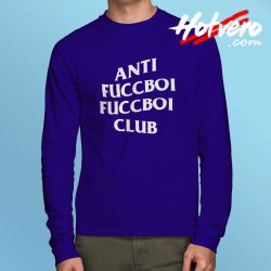 Anti Fuccboi Club ASSC Unisex Long Sleeve Shirt Blue
