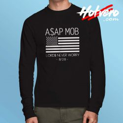 Asap Mob Lords Never Worry Long Sleeve Shirt