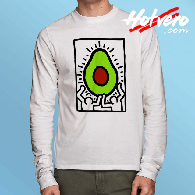 Avocado Vintage American Pop Art Long Sleeve T Shirt