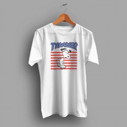 Awesome Snoopy USA Skateboard Parody T Shirt