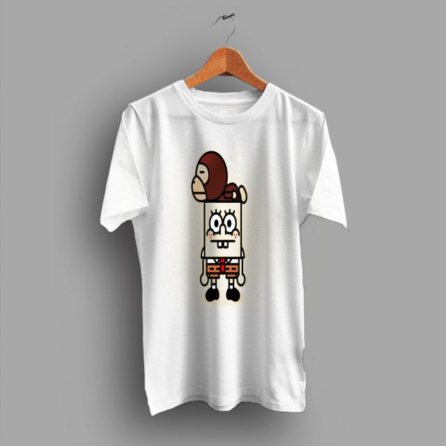 Baby Milo Spongebob Squarepant A Bathing Ape T Shirt