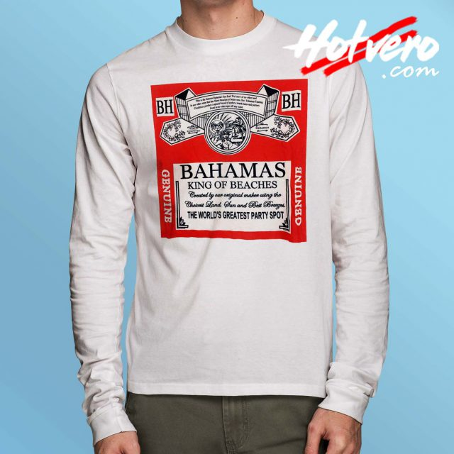Bahamas King Of Beaches Budweiser Long Sleeve T Shirt