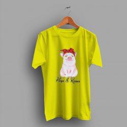 Bandana Farm Country Hogs Kisses Cute T Shirt