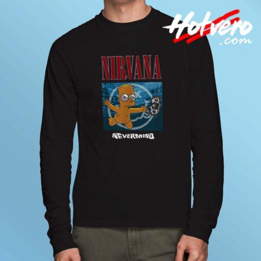 Bart Simpson Nirvana Grunge Long Sleeve Shirt