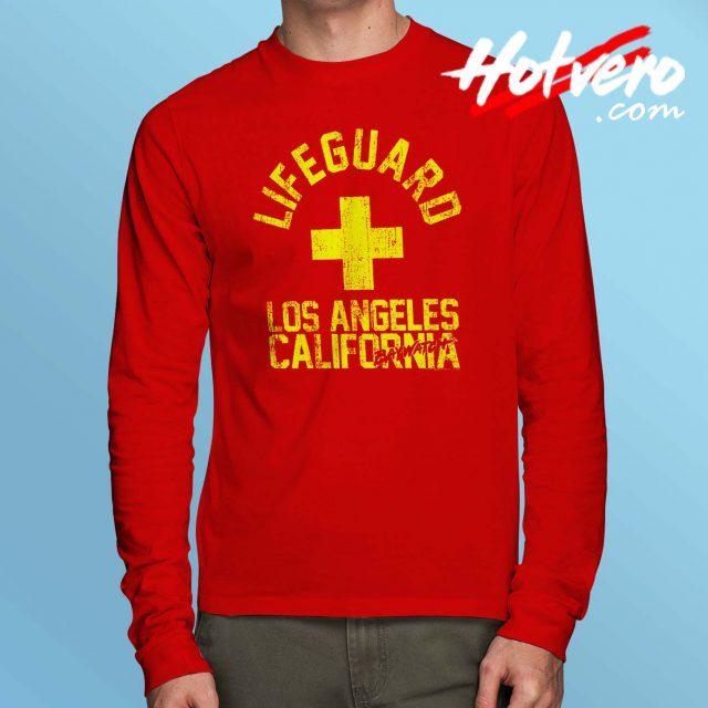 Baywatch Lifeguard Los Angeles California Long Sleeve T Shirt