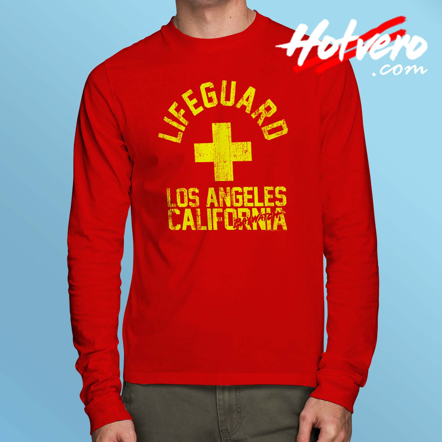 cf14ad5ade6 Baywatch Lifeguard Los Angeles California Long Sleeve T Shirt ...