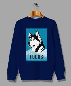 Be The Strong Lone Wolf Focused Husky Sweatshirt