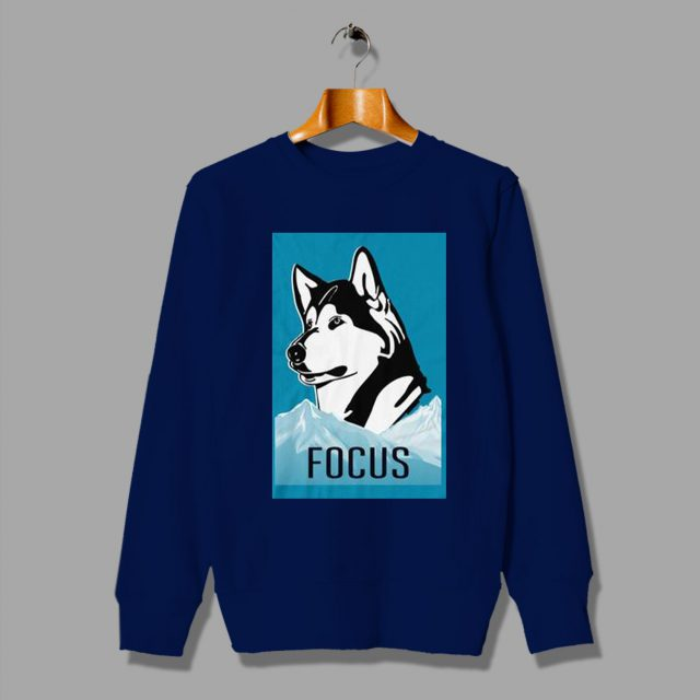 Be The Strong Lone Wolf Focused Husky Sweatshirt