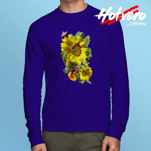 Beautiful Sunflower Vintage Long Sleeve T Shirt
