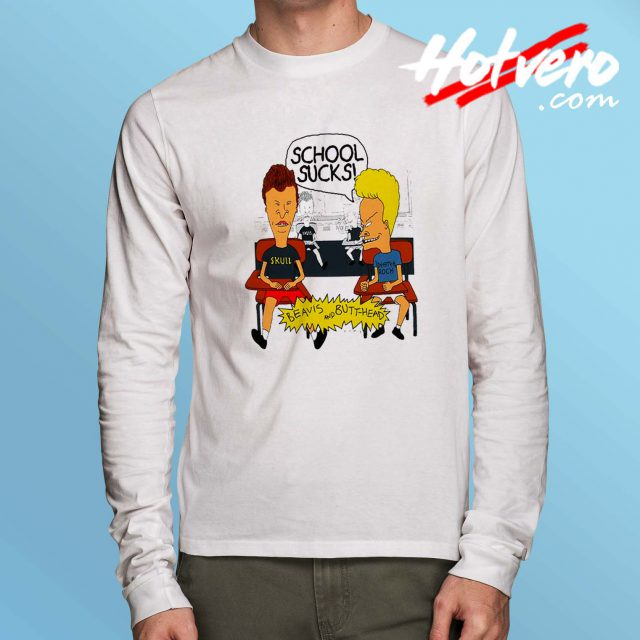 Beavis and Butthead School Sucks Long Sleeve Shirt