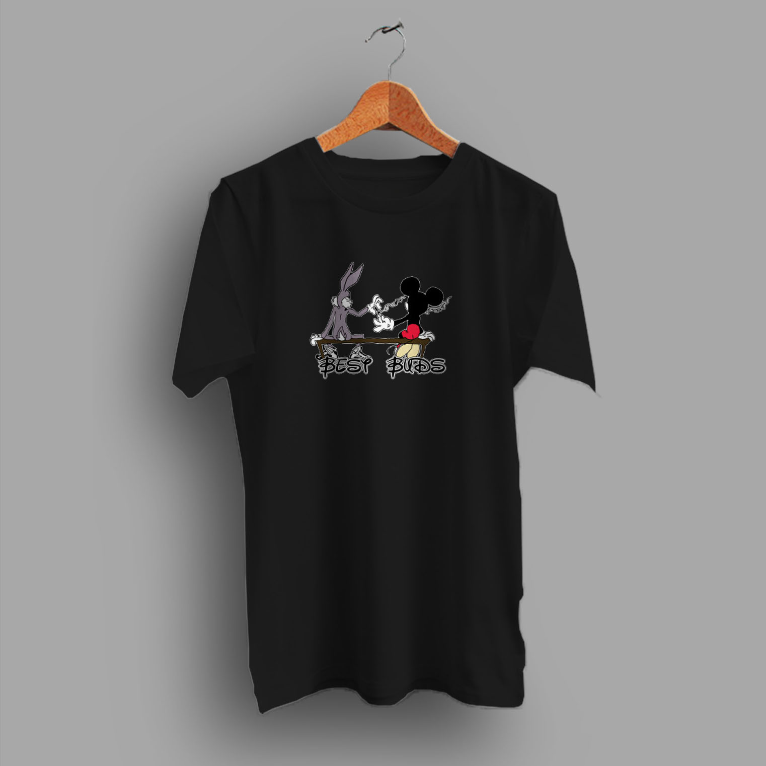 5d56c0647e373c ... T shirts, Tank Tops. Best Buds Funny Mickey Mouse Disney Parody T Shirt