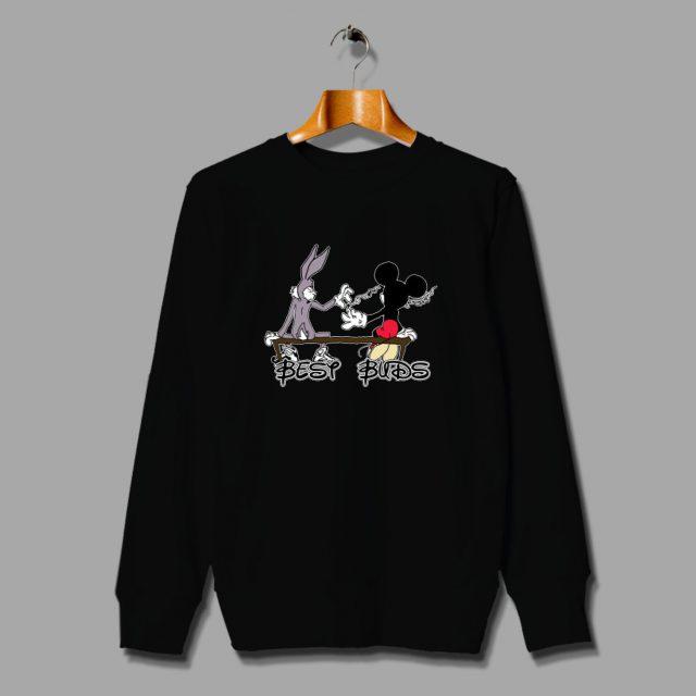 Best Buds Mickey Mouse Disney Parody Sweatshirt