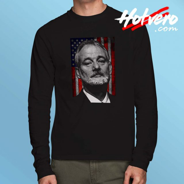 Bill Murray American Flag Long Sleeve T Shirt