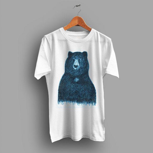 Black Big Bear Cheap Gift Unisex T Shirt