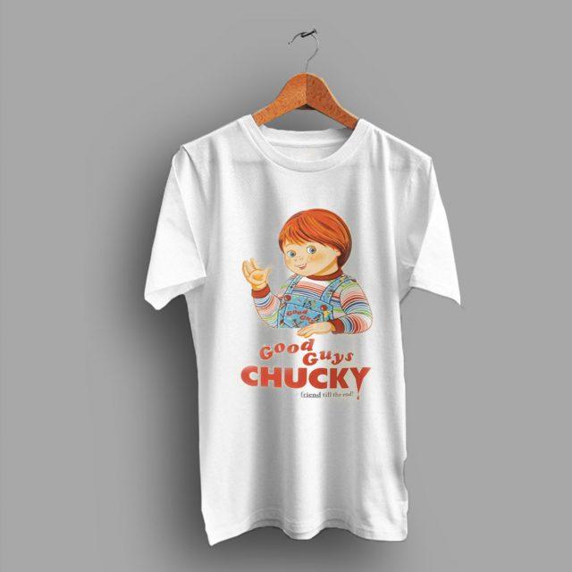 Bloody Funny Goods Guys Chucky Friend Till End T Shirt