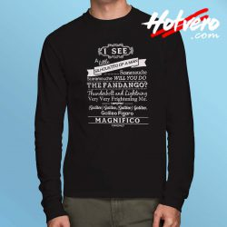Bohemian Rhapsody Quote Long Sleeve Shirt