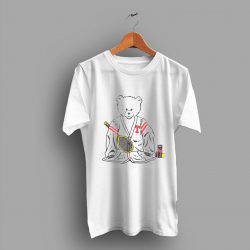 Burnout Paper Thin Sport Teddy Bear Tennis 80s T Shirt