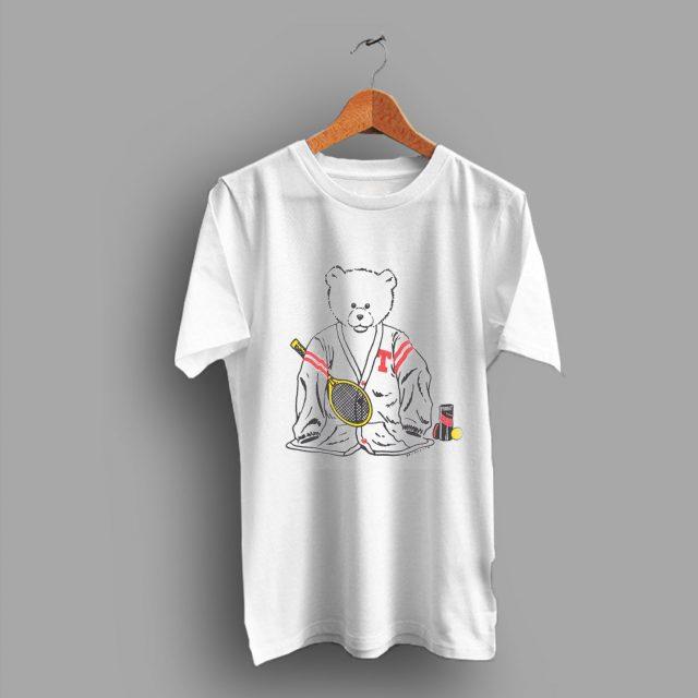Burnout Paper Thin Sport Teddy Bear Tennis 80s T Shirt