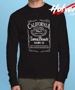 California Malibu Zuma Beach Long Sleeve Shirt