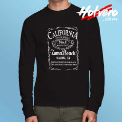 California Malibu Zuma Beach Long Sleeve Shirt