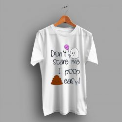 Cartoon Funny Dont Care Me I Poop Easy Baby Ghost Poo T Shirt