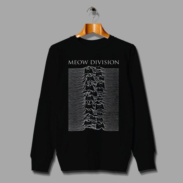 Cat Meow Joy Division Parody Unisex Sweatshirt