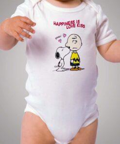 Charlie Snoopy Happines Love Kiss Baby Onesie
