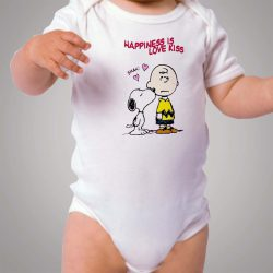 Charlie Snoopy Happines Love Kiss Baby Onesie