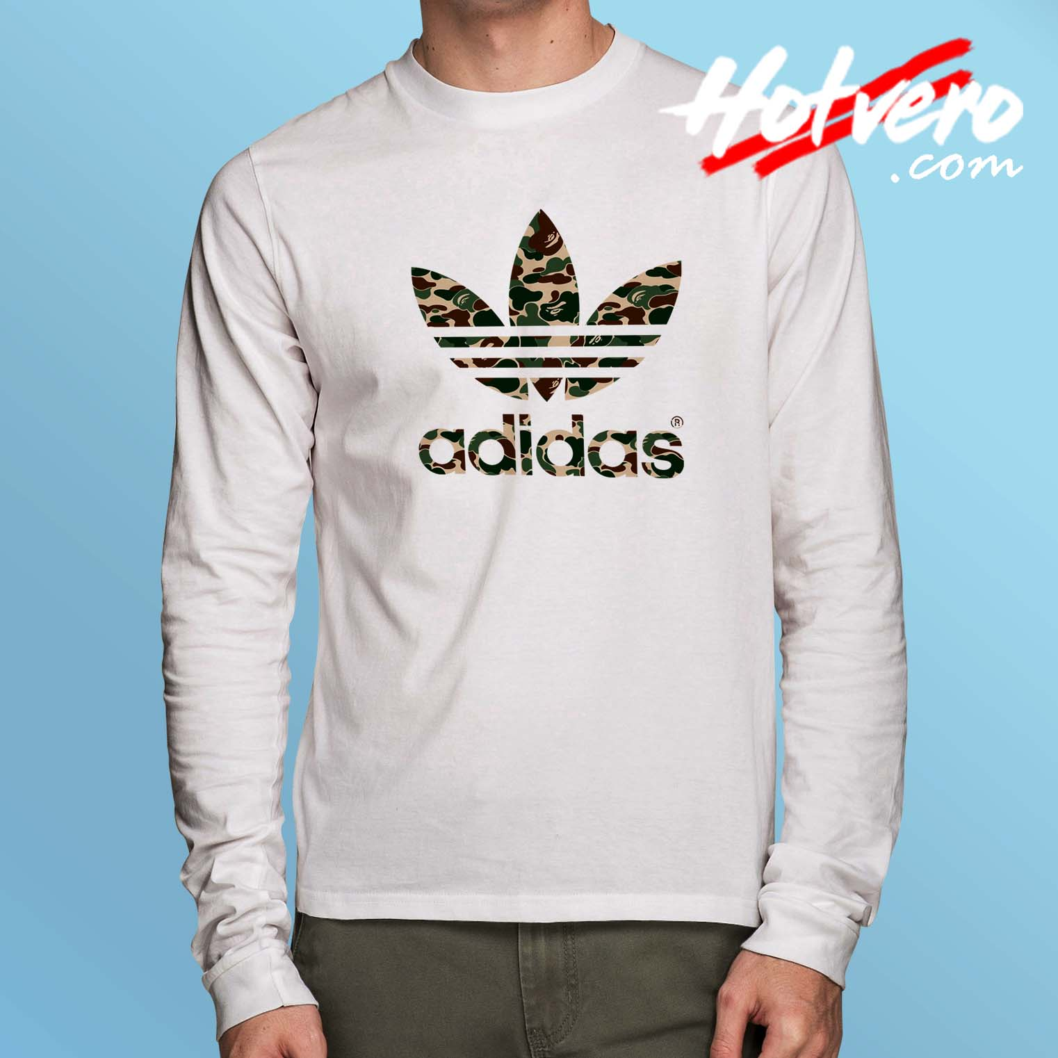 2705ec0c Cheap Bape Camo Adidas Collabs Long Sleeve Shirt - Hotvero.com