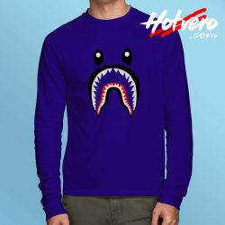 Cheap Bape Shark Long Sleeve Shirt Streetwear