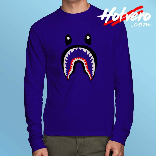 Cheap Bape Shark Long Sleeve Shirt Streetwear