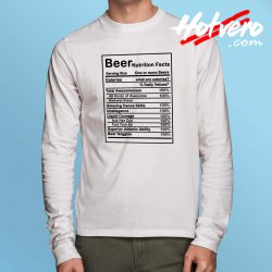 Cheap Beer Nutrition Facts Long Sleeve Shirt
