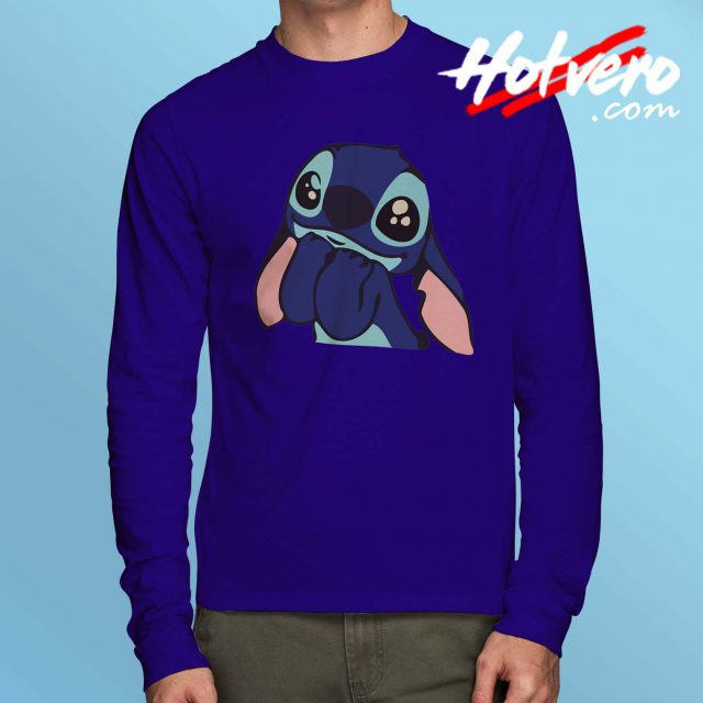 Cheap Funny Lilo Stitch Disney Long Sleeve Shirt
