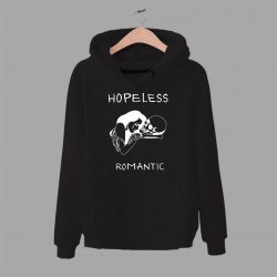 Cheap Hopeless Romantic Skull Hoodie