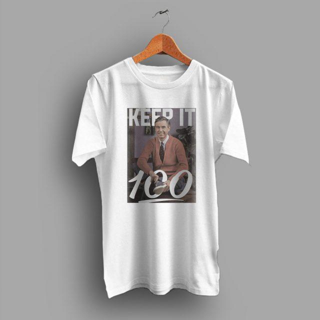 Cheap Keep It 100 Emoji Mister Rogers T Shirt