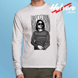 Cheap Kurt Cobain Stripe Long Sleeve Shirt