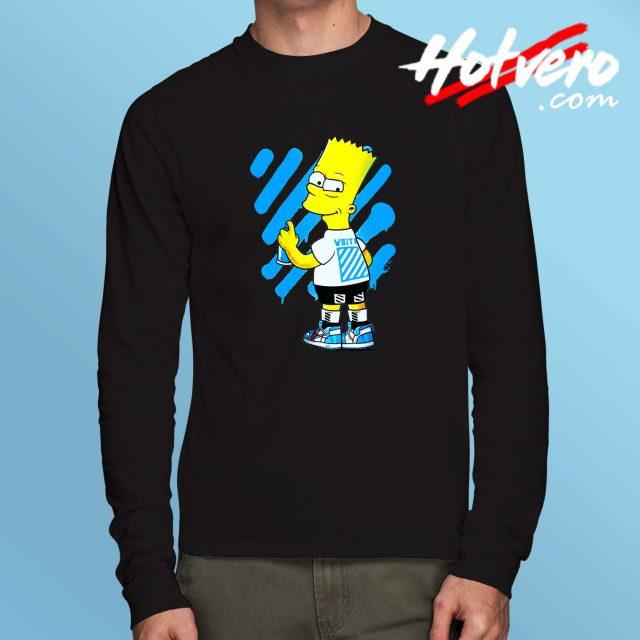 Cheap Off White Bart Simpson Long Sleeve Shirt