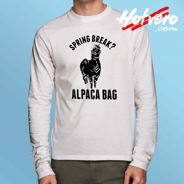 Cheap Spring Break Alpaca Bag Long Sleeve T Shirt